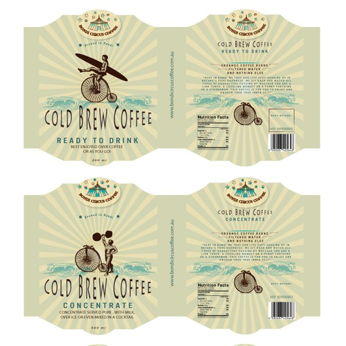 Cold brew label with the title 'Coffee Label'