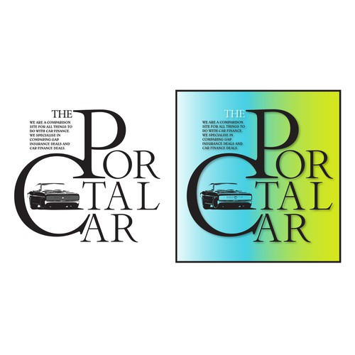 Portal logo with the title 'Logo For The Car Portal Comparison Website.'