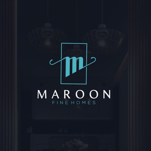 Maroon logo with the title 'Maroon Fine Homes'