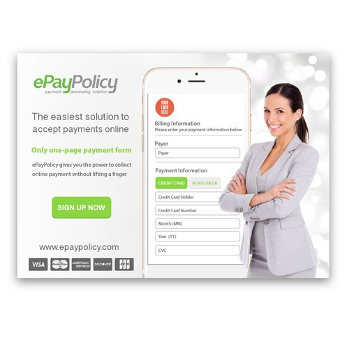 Print ad design with the title 'Print Ad for ePayPolicy'