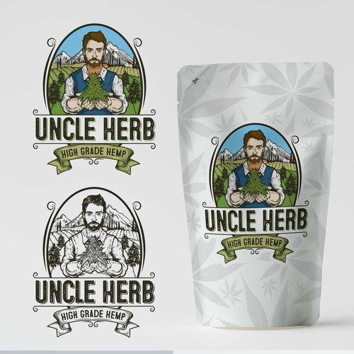 Swiss logo with the title 'uncle herb'