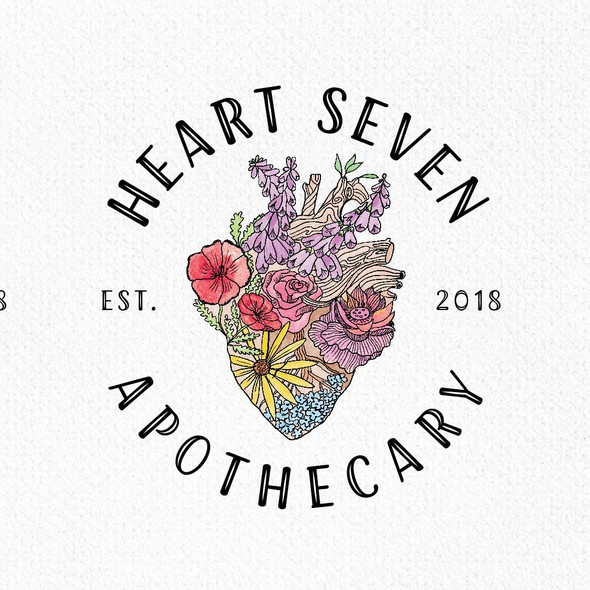 Apothecary logo with the title 'Heart Seven'