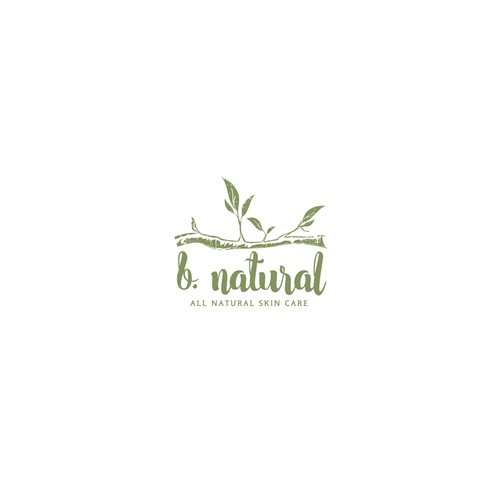 Branch design with the title 'Natural cosmetic'