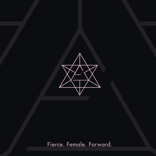 Bright star logo with the title 'Logo for Female Entrepreneur'