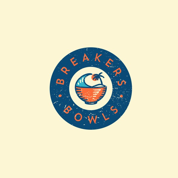 Wave brand with the title 'Fun logo for Breakers Bowls'
