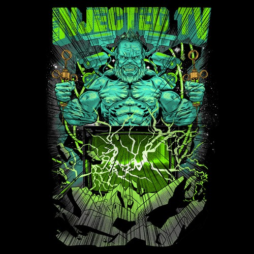 Fitness t-shirt with the title 'INJECTED TV'
