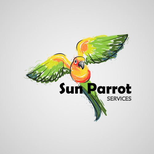 Parrot logo with the title 'Sun Parrot Services'