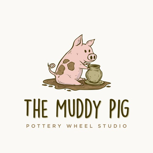 Pot logo with the title 'The Muddy Pig'