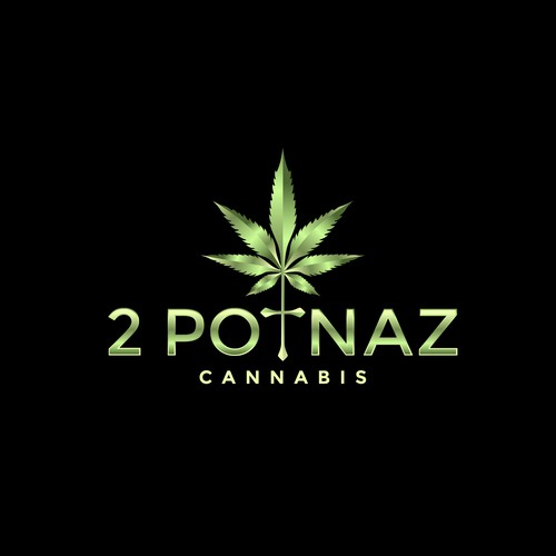 Startup logo with the title 'Cannabis Logo for 2 Potnaz'