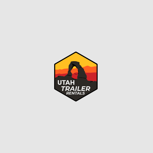 Arch design with the title 'Landscape Logo for Utah Trailer Rentals'