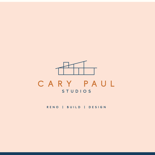 Design with the title 'Brand Identity Concept for Cary Paul Studios'