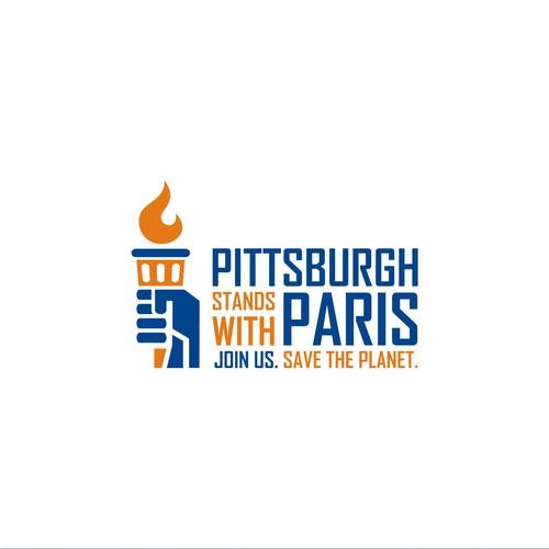 Paris design with the title 'Pittsburg Paris logo'