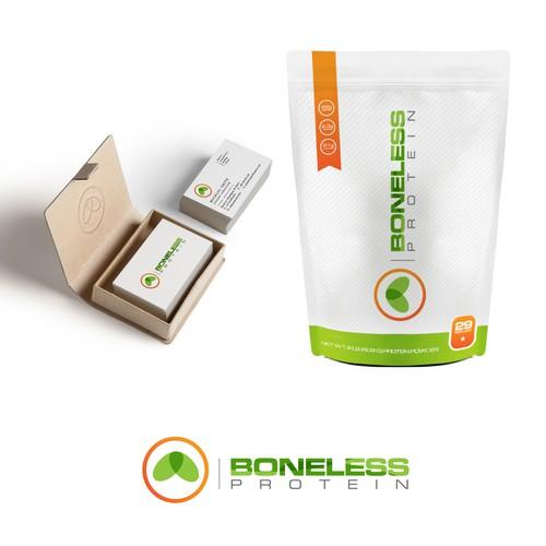 Protein logo with the title 'Boneless Protein'