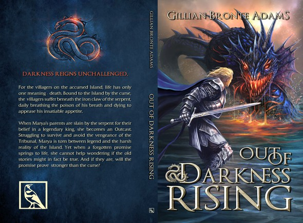 """Warrior book cover with the title 'Bold, Imaginative, Eye-Catching cover for new, YA epic fantasy """"Out of Darkness Rising""""'"""