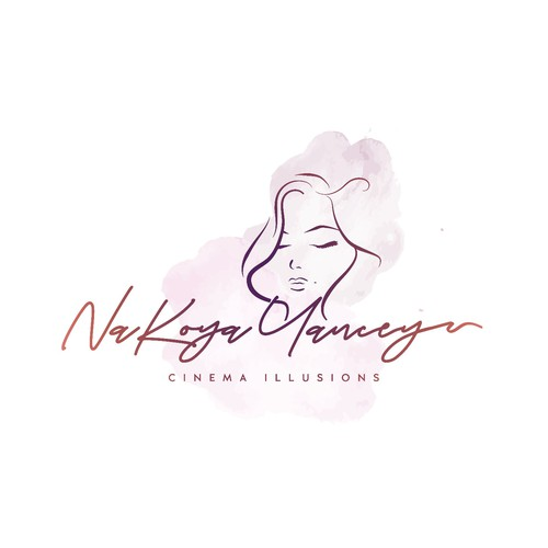Makeup artist design with the title 'Logo design for NaKoya Yancey - cinema illusions - Film and Television Wigs and Extensions'