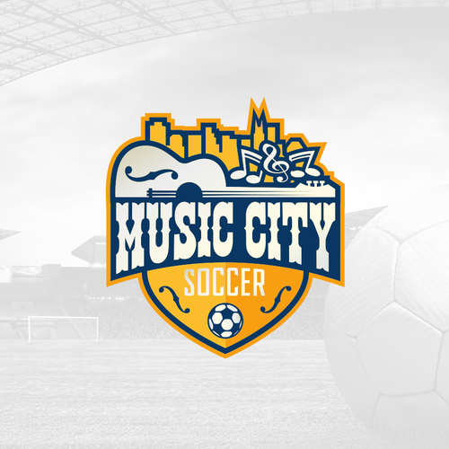 Soccer design with the title 'Bold and Playful Soccer Team Design'