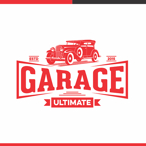 Garage design with the title 'Vintage vehicle Garage Ultimate'