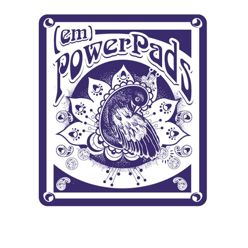 Pattern illustration with the title 'logo-illustration for (em)PowerPads'