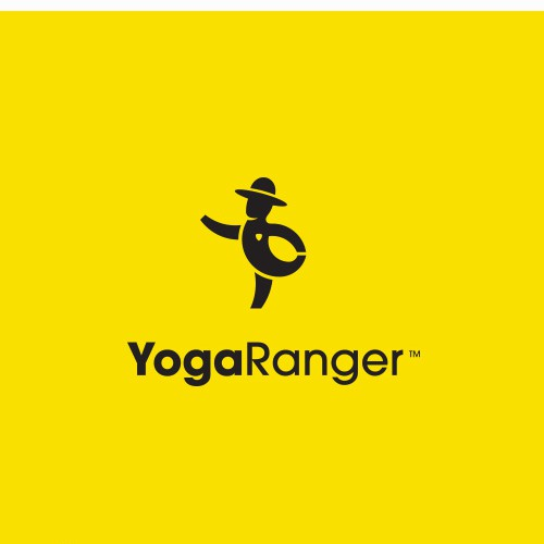 Meditation logo with the title 'YogaRanger'
