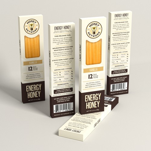 Honey packaging with the title 'Energy Honey'