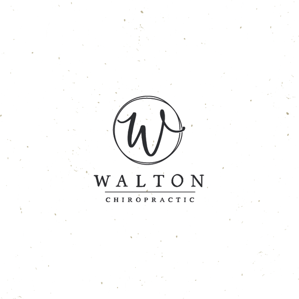 Magnolia design with the title 'Walton Chiropractic'