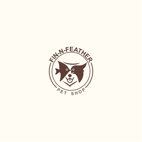 Pet shop logo with the title 'Creative Incorporated Few Pet Animal as a Logo'