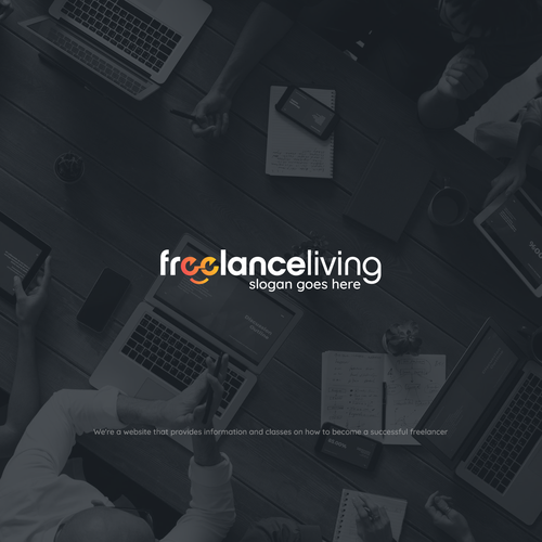 Worker logo with the title 'Freelance Living'
