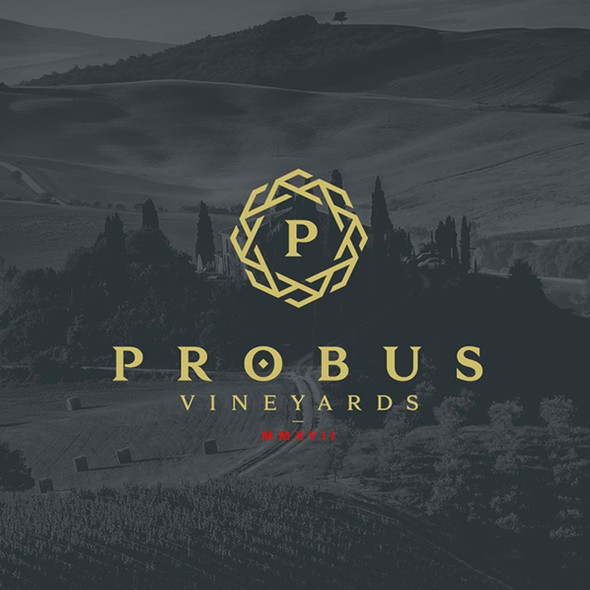 Traditional brand with the title 'Probus Vineyards'