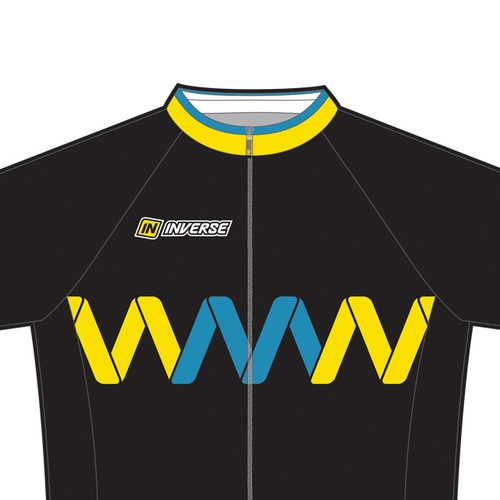 Cycling kit design with the title 'Cycling team jersey drsign'