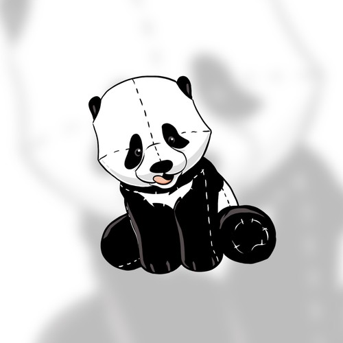 Teddy design with the title 'Panda character'