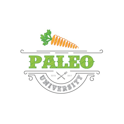 Recipe logo with the title 'Paleo University'