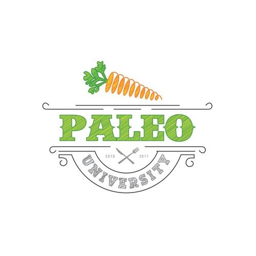 University logo with the title 'Paleo University'