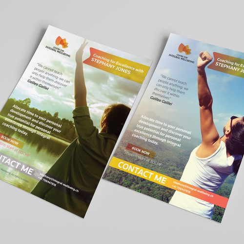 Teacher design with the title 'Poster Design for Integeral Wellbeing'