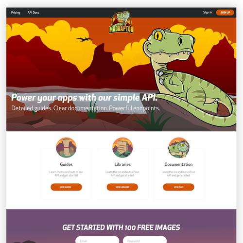 T-rex design with the title ' ModRaptor.com'