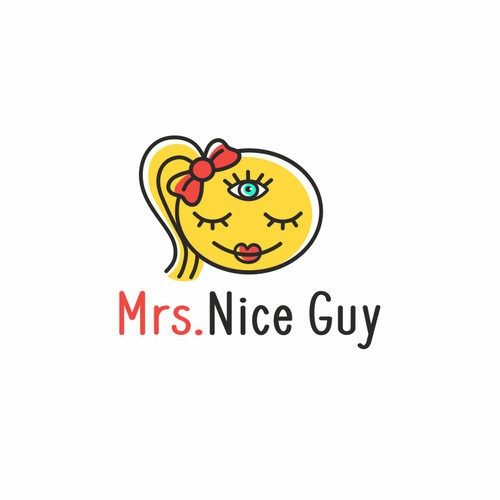Third eye design with the title 'Mrs Nice Guy'