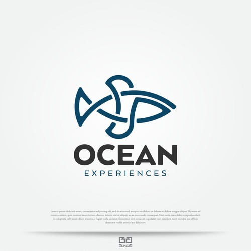 Ocean design with the title 'Bold logo with fish as a main theme.'