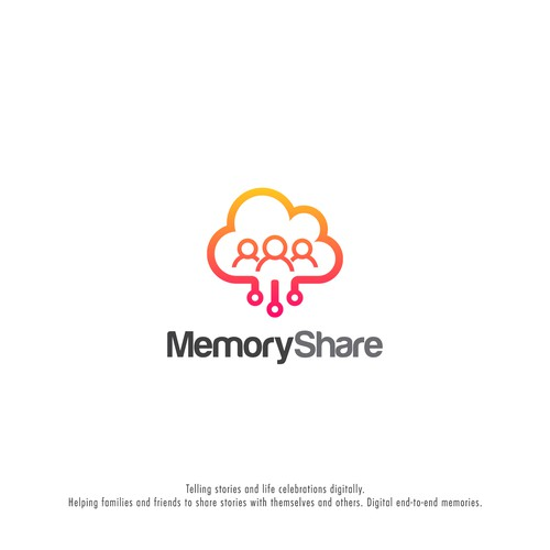 Memories logo with the title 'Memory Share Logo'
