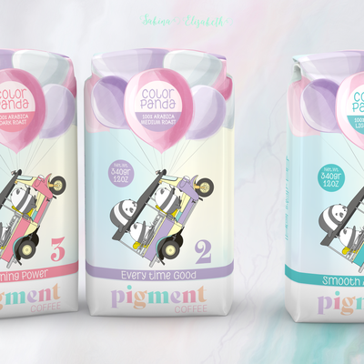 Colorful Specialty Coffee Bag Design