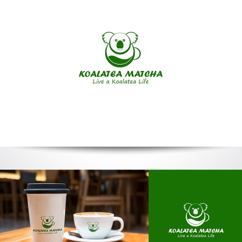 Teacup design with the title 'Hand lettering logo for a green tea shop'