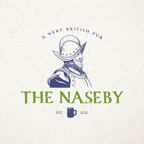 War logo with the title 'The Naseby'