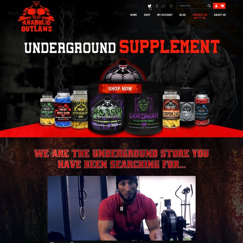 Parallax website with the title 'Body Building Supplements'