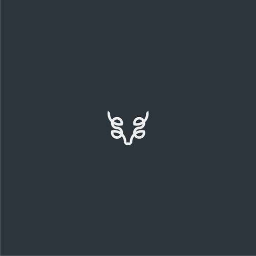 Deer head logo with the title 'Llano Game Ranch Logo Design'
