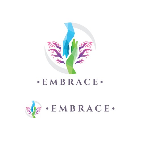Caring logo with the title 'Embrace'