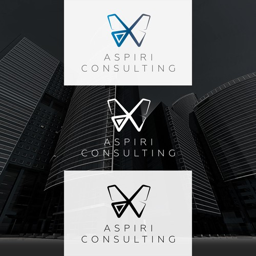 Change logo with the title 'Geometric consulting logo'