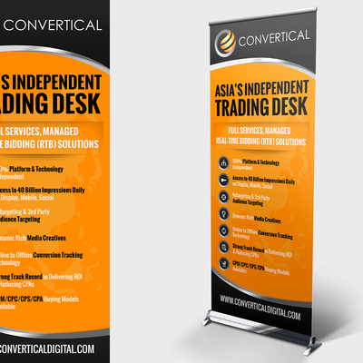 Create a Pop Up Banner design for an advertising company