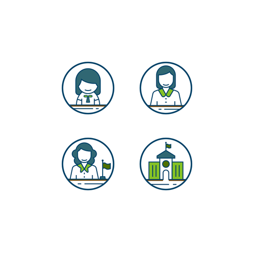 Student design with the title 'Sprout | GrowthWith.org ICON SET'
