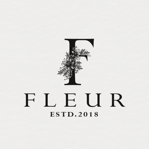 Floral logo with the title 'Logo design contest entry'