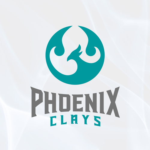 Fire logo with the title 'Phoenix Clays'