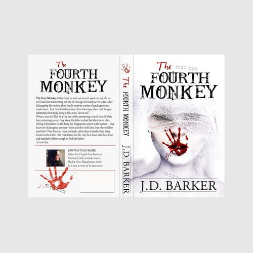 Killer design with the title 'THE FOURTH MONKEY'