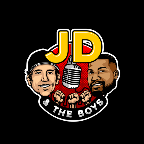 Comedy logo with the title 'NEW PODCAST Logo DESIGN'